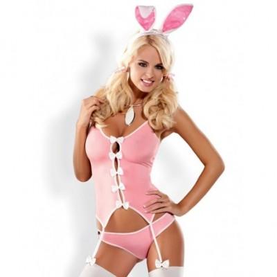 Bunny Suit Disfraz 4 Piezas Rosa